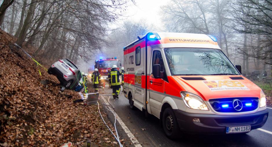 Verkehrsunfall auf der L3027 bei Niedernhausen