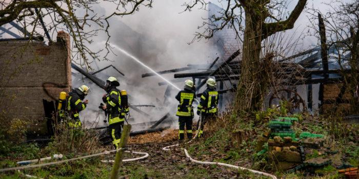 Brand auf landwirtschaftlichem Anwesen in Heidenrod