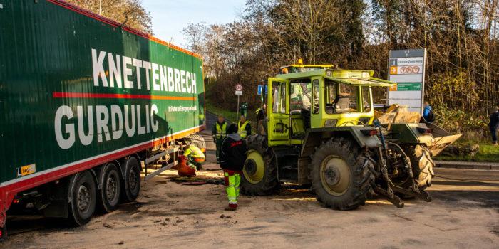 Unfall mit Traktor bei Demonstration