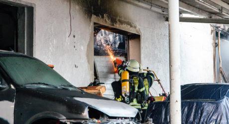Großbrand einer KFZ-Werkstatt in Geisenheim 23.01.2020