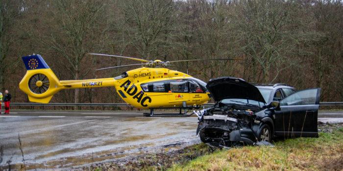Schwerer Verkehrsunfall bei Idstein-Eschenhahn