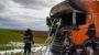 Brandstiftung nicht ausgeschlossen – Zugmaschine brennt in Wiesbaden Nordenstadt komplett aus