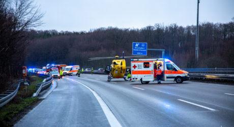 Verkehrsunfall A3 bei Niedernhausen – 32 Jährige Fahrerin verstirbt