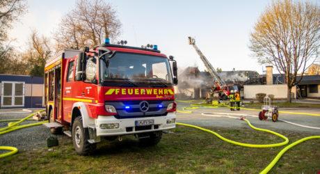 Brand der Mehrzweckhalle in Villmar am 31.03.2020