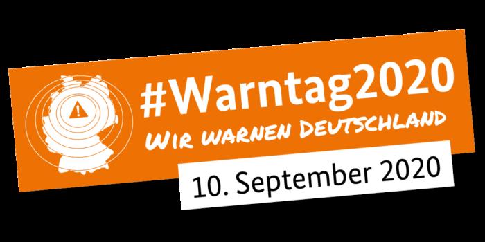 Erster bundesweiter WARNTAG 2020 am 10.September 2020